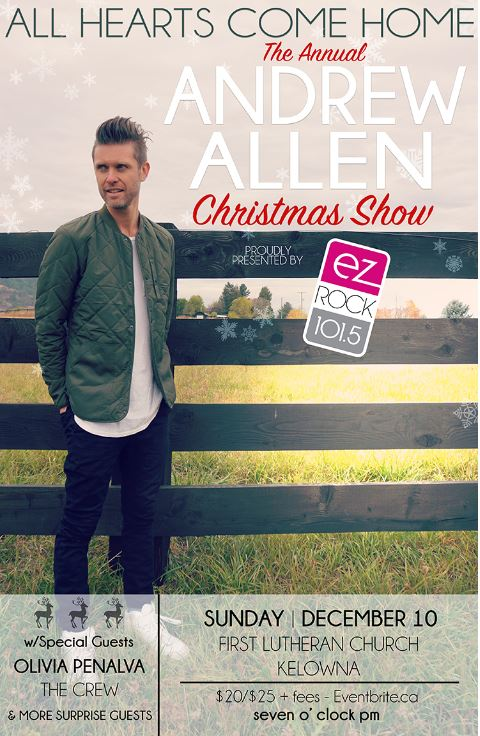Andrew Allen Christmas Show - Sunday Dec. 10th