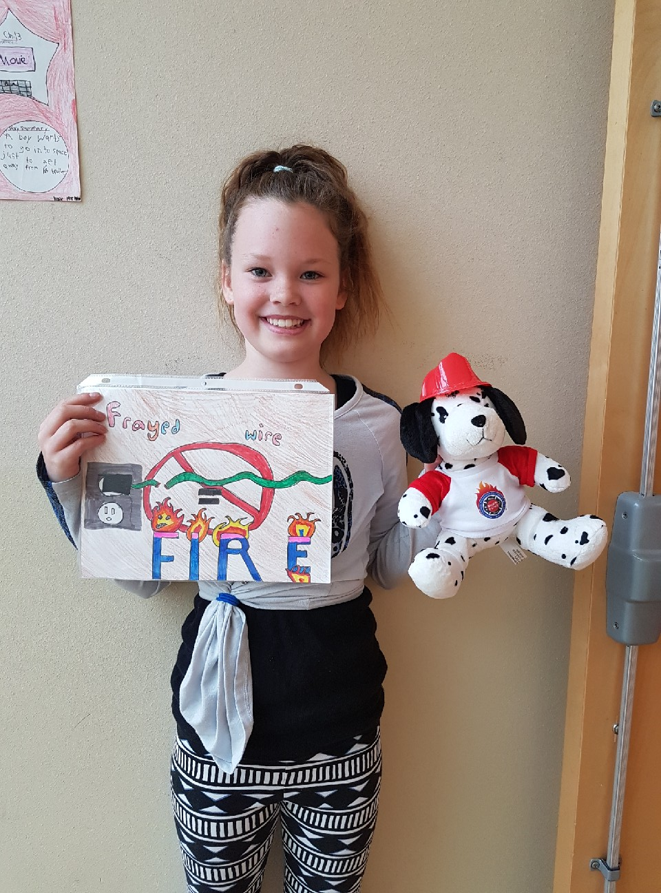 ELE student places third in Burn Awareness Poster Contest